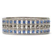 Monet® Blue Glass & Marcasite Bangle