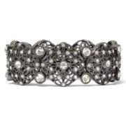 Liz Claiborne® Crystal Silver-Tone Stretch Bracelet