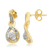 1/4 CT. T.W. Diamond 10K Yellow Gold Infinity Earrings