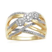 diamond blossom 1/2 CT. T.W. Diamond Cluster Orbit Ring
