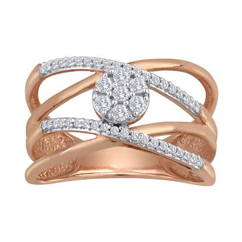 diamond blossom 1/4 CT. T.W. Diamond Cluster Orbit Ring