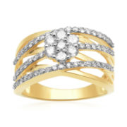 diamond blossom 1 CT. T.W. Diamond Cluster Orbit Ring