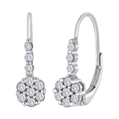 jcpenney.com | diamond blossom 1/4 CT. T.W. Diamond Cluster Sterling Silver Earrings