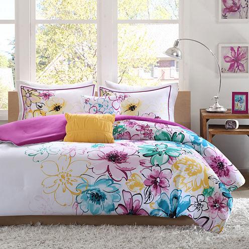 Intelligent Design Ashley Floral Comforter Set