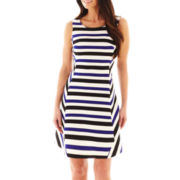 Worthington® Sleeveless Striped Fit-and-Flare Dress