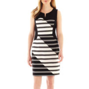 Worthington® Sleeveless Seamed Sheath Dress