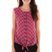 Worthington® Sleeveless Tie-Waist Blouse - Tall