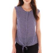 Worthington® Sleeveless Tie-Waist Blouse - Tall