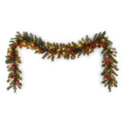 Peppermint Twist Vienna 9' Outdoor Pre-Lit Garland