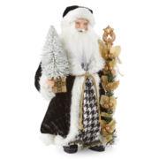 "18"" Houndtooth Santa Figurine"