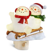 Snowmen and Sled Night Light