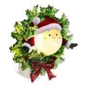 Santa Head with Wreath Night Light