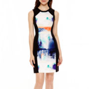 nicole by Nicole Miller® Sleeveless Print Panel Sheath Dress
