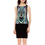nicole by Nicole Miller® Sleeveless Print Blouson Dress
