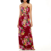 True Color Sleeveless Spaghetti-Strap Blouson Maxi Dress - Tall
