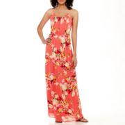 True Color Sleeveless Cinch-Waist Maxi Dress - Tall