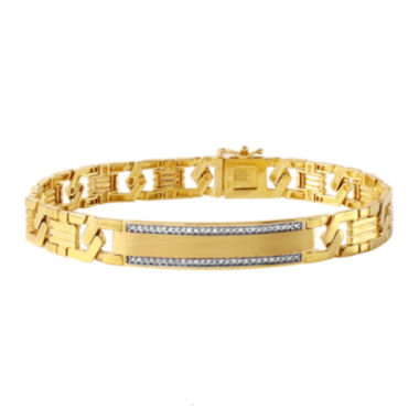 jcpenney.com | Mens 1/6 CT. T.W. Diamond 10K Gold Link Bracelet