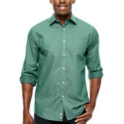 Claiborne® Long-Sleeve Micro-Dobby Woven Shirt