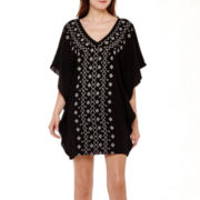 Olsenboye® Embroidered Kaftan Dress