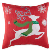 North Pole Trading Co. Reindeer Sequins Decorative Pillow