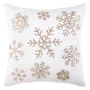 North Pole Trading Co. Snowflake Sequins Decorative Pillow