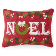 North Pole Trading Co. Hooked Noel Decorative Pillow