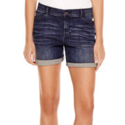Liz Claiborne® 5-Pocket Roll-Cuff Denim Shorts