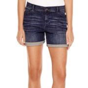 Liz Claiborne® 5-Pocket Roll-Cuff Denim Shorts