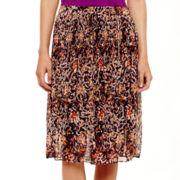 Liz Claiborne® Crinkle Midi Skirt