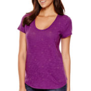 Liz Claiborne® Short-Sleeve Embellished T-Shirt