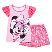 Disney Collection Minnie Mouse Pajama Set - Girls 2-10