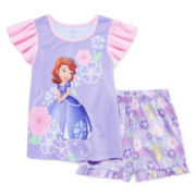Disney Collection Sofia the First Pajama Set - Girls 2-10