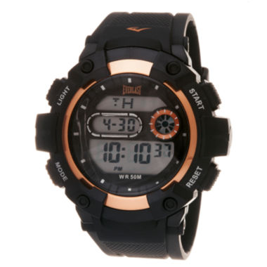 jcpenney.com | Everlast Black and Orange Digital Watch