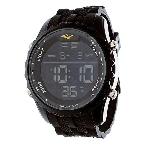 Everlast Black Rubber Digital Watch
