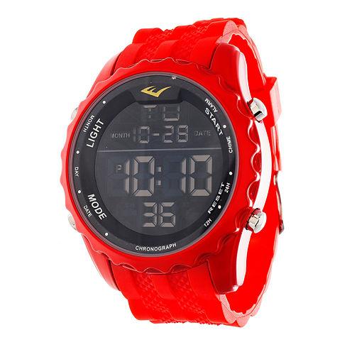 Everlast Red Digital Watch