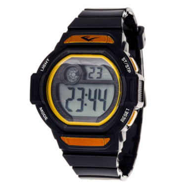 jcpenney.com | Everlast Black and Yellow Digital Strap Watch