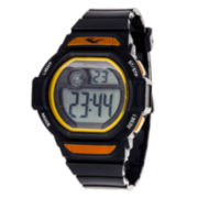 Everlast Black and Yellow Digital Strap Watch