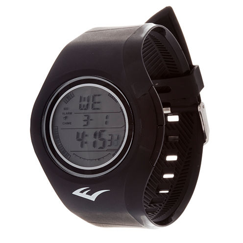Everlast Black Digital Strap Watch