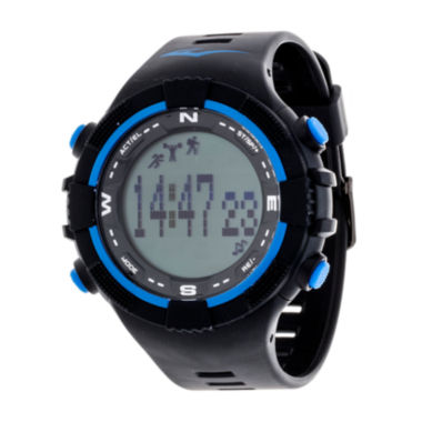 jcpenney.com | Everlast Black and Blue Pedometer Watch