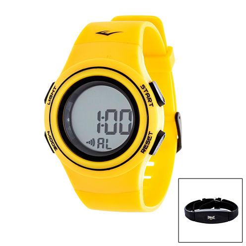 Everlast Yellow Heart Rate Watch