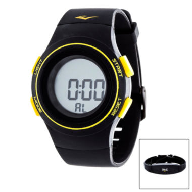 jcpenney.com | Everlast Black and Yellow Heart Rate Watch