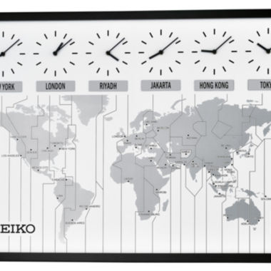 jcpenney.com | Seiko® Wall Clock With Six City World Time QXA538KLH