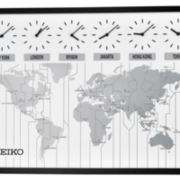 Seiko® Wall Clock With Six City World Time QXA538KLH