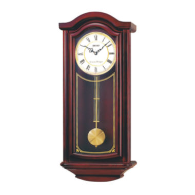 jcpenney.com | Seiko® Chime Wall Clock With Pendulum Brown Qxh118blh