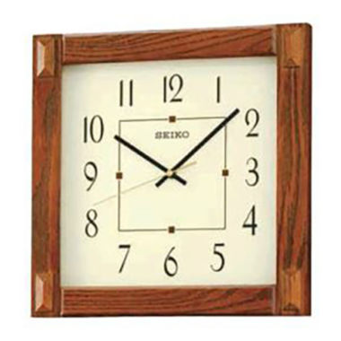 jcpenney.com | Seiko® White Dial Brown Square Wall Clock Qxa469blh