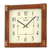 Seiko® Wall Clock Brown Qxa469blh