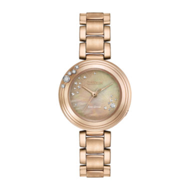 jcpenney.com | Citizen® Eco-Drive Womens Rose Gold Tone Citizen® L Carina Diamond Bracelet Watch EM0463-51Y