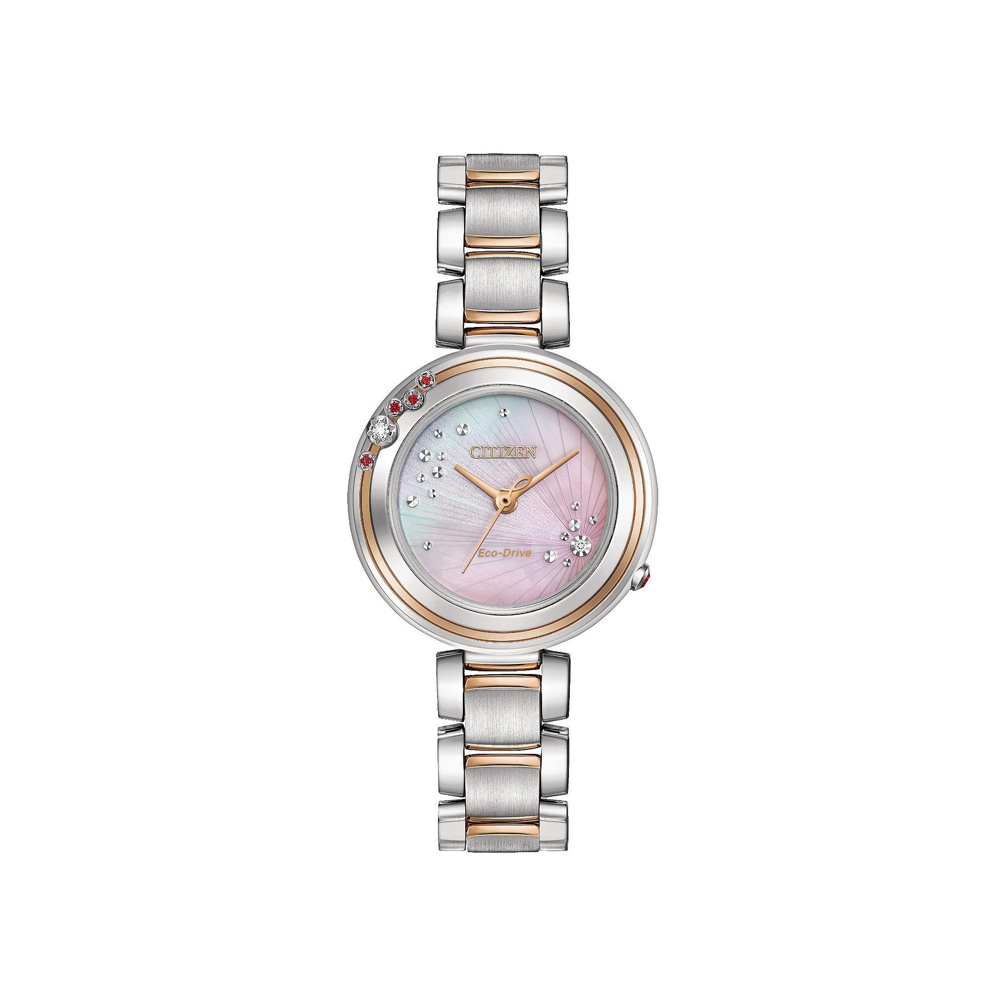Citizen Eco-Drive Womens Stainless Steel Limited Edition Citizen L Carina Diamond Bracelet Watch EM0466-53N
