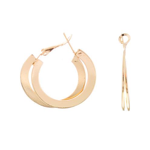 a.n.a® Gold-Tone Flat Double Hoop Earrings