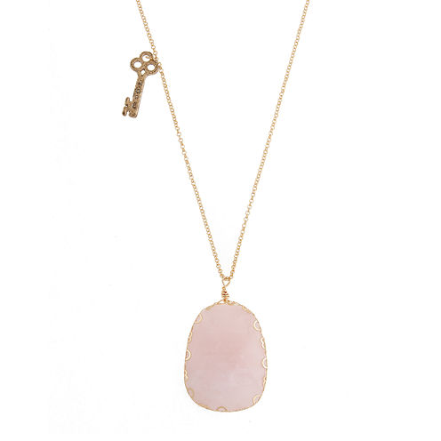 Messages from the Heart® by Sandra Magsamen® Pink Gold-Tone Pendant Necklace